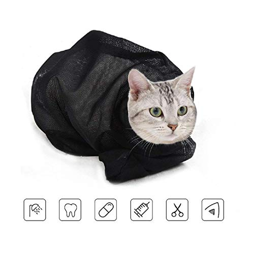 ASOCEA Cat Grooming Bag beißen und kratzen widerstanden zum Baden Injizieren Untersuchen des Nagelschneidens