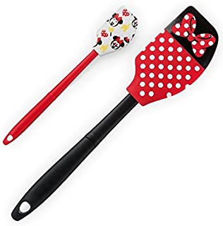 Disney Parks Minnie Mouse Polka Dot Bow Emoji Spatula Set of 2