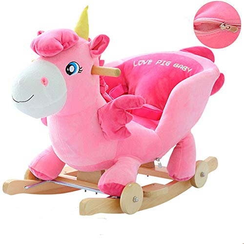 Best Prices! Baby Rocking Horse Child Rocking Pink Angel Horse Early Kids Ride On Rocking Horse for ...