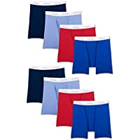 8-Pack Fruit of the Loom Men's Active Cotton Blend Lightweight Boxer Briefs