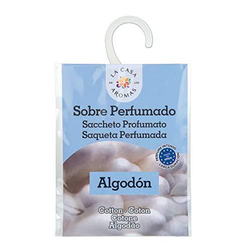 Sobres Perfumados, Bolsitas Aromáticas Aroma Algodón, Saquitos para el Armario, Cajón, Ropa de Bebé, Zapatero, Maleta (Algodón, 1 PC)