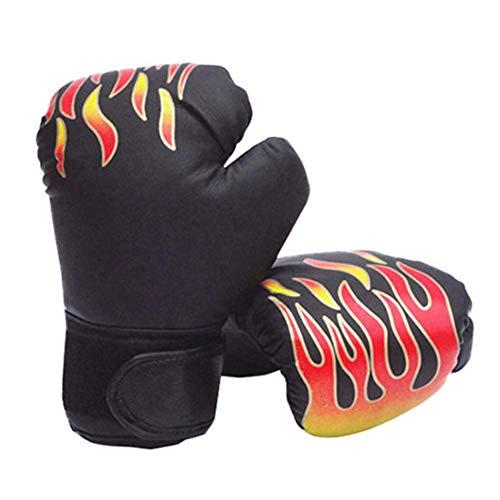 Bclaer72 1 par de Guantes de Boxeo de Piel sintética para niños de 4 onzas, Negro