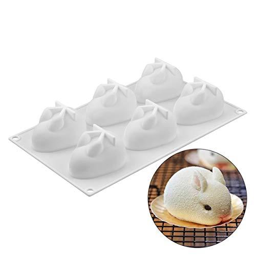 BrilliantDay 3D Hase Form Silikonform Backformen Kuchen Dekorieren von Werkzeugen für Backform, Mousse Chiffon Gebäck Kuchen, Pfanne, Keks, Süßigkeiten, EIS, Gelee, Schokoladenkuchen