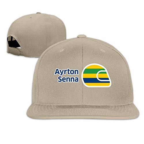 KOMOBB Ayrton Senna Mujeres Hombres Ajustable Snapback Sombrero Gorra de béisbol de Visera Plana