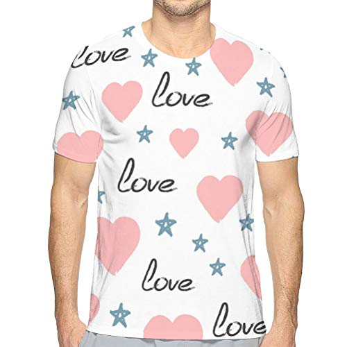 Herren Casual Slim Fit Basic Kurzarm Mode Sommer T-Shi O-Neck T-Shirt