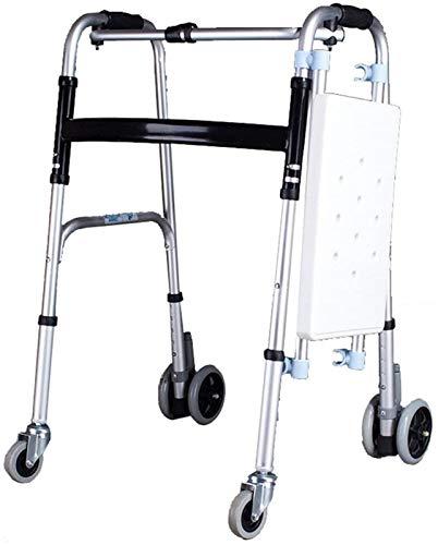 Asiento de la ducha Marco caminando Lightweight Plegable Rollator Rollator Ayuda con asiento para movilidad Movilidad Ancianos y discapacitados People Showol Taburete Silla de baño Aplicar a ancianos,