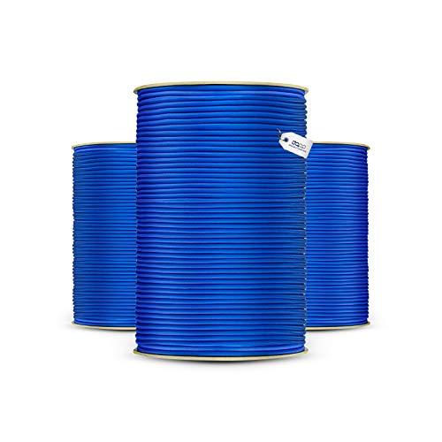 10m GUMMISEIL 4mm Expanderseil BLAU Gummischnur Gummikordel Gummiseile Spannseil Planenseil Gummileine Seil Plane Netz