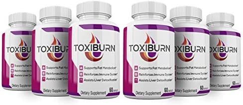 6 Pack Toxiburn Weight Loss Pills Liver Cleanse Diet Capsules Supplements Reviews Toxi Burn product image