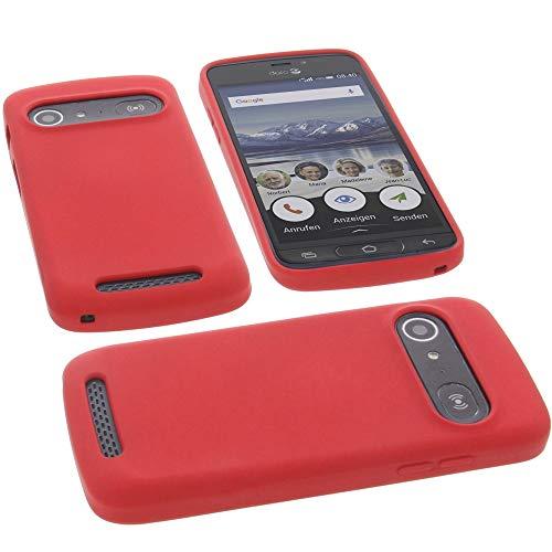 foto-kontor Hülle für Doro 8040 Tasche Silikon TPU Schutz Handytasche rot