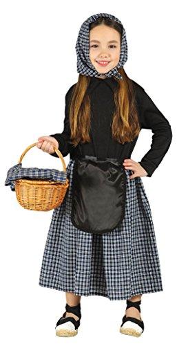 Guirca- Disfraz infantil de Castañera, Color negro, 5-6 años (42460.0)