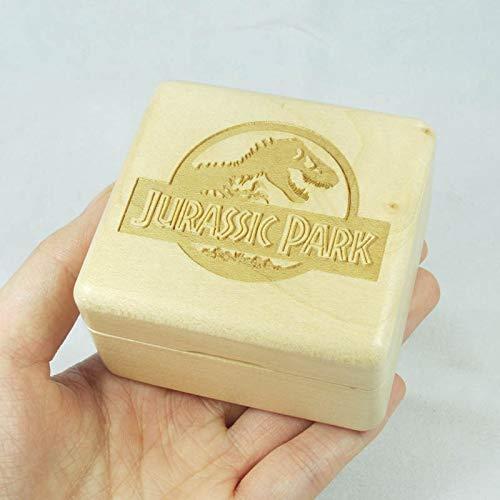 Caja de música Jurassic Park Theme Wind Up Wood Music Box con el mecanismo de Sankyo (Color : Jurassic Park theme)