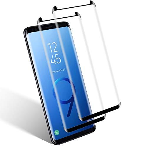 Aspiree Verre Trempé pour Samsung Galaxy S9, 2 Pièces, Ecran Protection - HD - Ultra Resistant - Dureté 9H - Sans Bulles