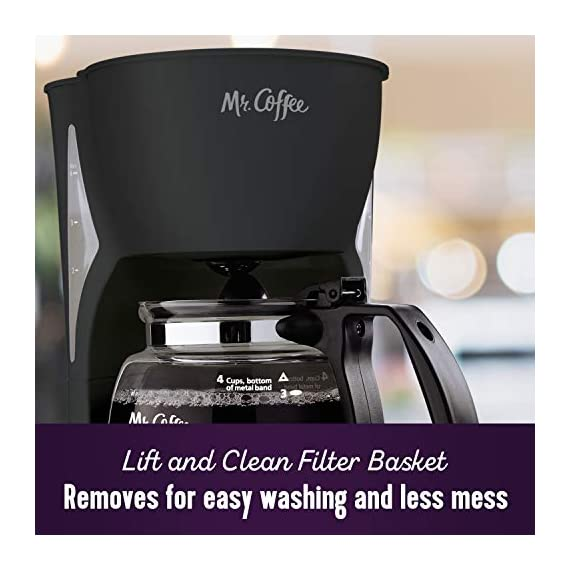 Mr. Coffee Simple Brew Coffee Maker|4 Cup Coffee Machine|Drip Coffee Maker, Black 3 Imported