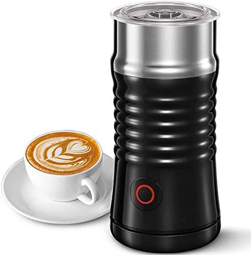 Montalatte Elettrico Aicook 4 In1, Per Schiuma di Latte Calda e Fredda Con Doppia Parete, Interno Antiaderente, Base di Illuminazione Con Raschietto in Silicone, Per Cappuccino, Latte, Caffè