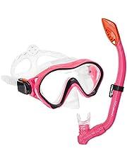 iParaAiluRy Snorkelset voor kinderen, anti-condens, met snorkel en duikbril, droge snorkel, anti-lek, set voor jongens en meisjes