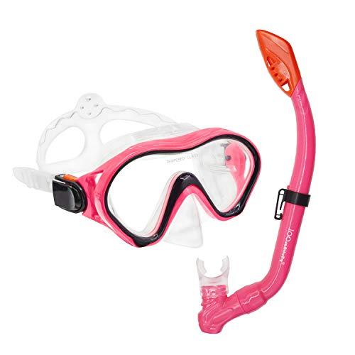 iParaAiluRy Gafas Buceo para Niños Snorkel Gafas con Tubo Buceo Gafas Antivaho Snorkel Set Azul Rosado Verde