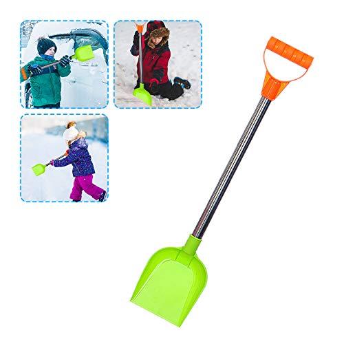 Lomelomme Schneeschieber Kinder Schneeschaufel leicht Kunststoff Kinderschaufel Kunststoffschaufel Sandschaufel mit Edelstahlgriff, Geschenk fur Junge und Mädchen, 47cm