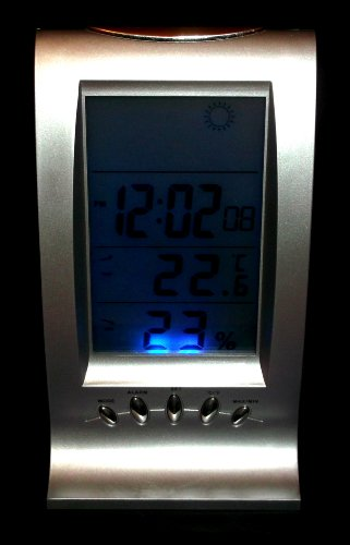 Draadloos weerstation wekker klok luchtvochtigheid thermometer