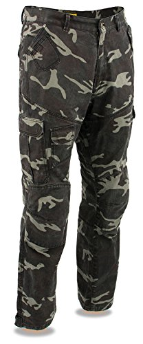 Milwaukee Leather Performance MPM5593 Men's Armored Camo Cargo Jeans Reinforced with Aramid by DuPont Fibers - 36