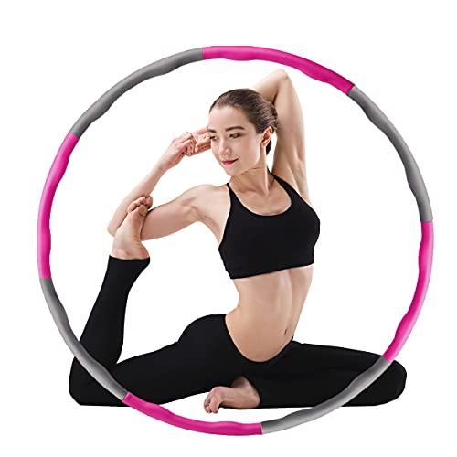 Fitness Reifen Hoop für Erwachsene Kindern 8 Taille 90cm zur Gewichtsverlust Slim Hula Sport Reifen Hoop Fitnessübungen mit Massagenoppen Gymnastik Bauchtrain Hula Reifen Erwachsene Anfänger Abnehmen