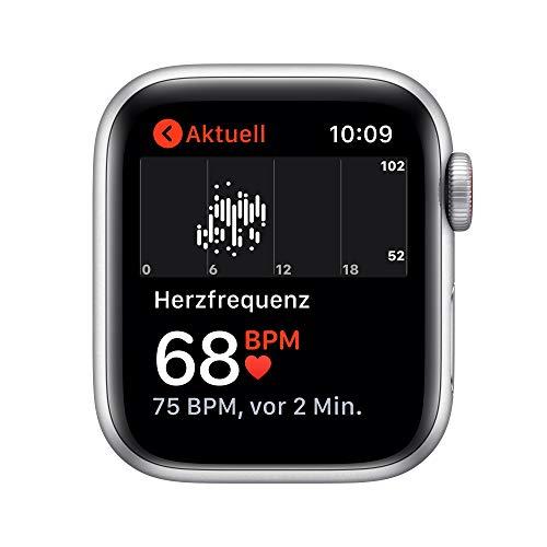 AppleWatch SE (GPS+ Cellular, 40mm) Aluminiumgehäuse Silber, Sport Loop Dunkelmarine