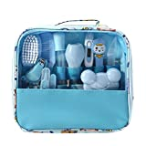 Moonvvin Baby Care Kit 13pcs/Set Newborn Grooming Set Essential Healthcare Accessories for Travelling Home Use with Carry Bag (Blue)