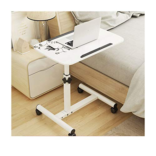 ALBBMY Hospital Bed Table Adjustable Rolling Table Desk Laptop Notebook Stand Sofa/Bed Side Table Hospital Table Stand (Color : 60 * 40cm Style G)