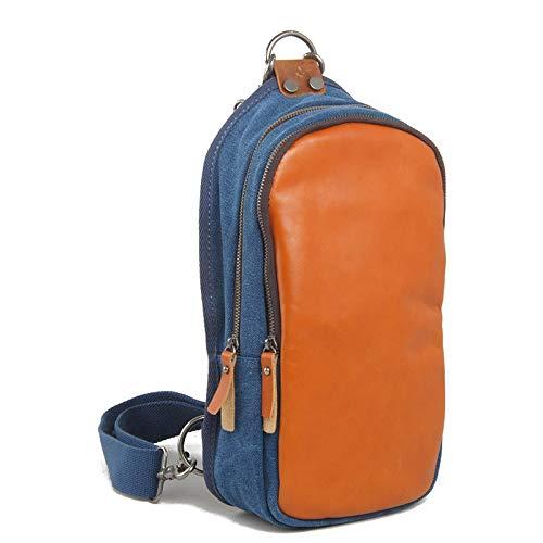XMYNB Bolso Pequeño De Moda para El Pecho Bolso Cruzado Diagonal para Hombre Mochila Pequeña para Mujer Mochila Azul 17 * 6 * 34 Cm