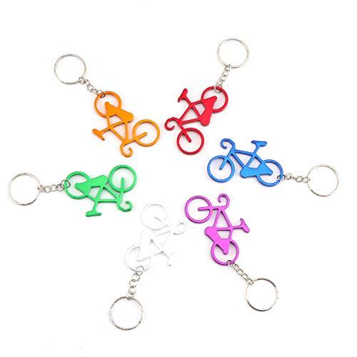 Coolty 24pcs Portachiavi con apribottiglie, Forma di Bicicletta