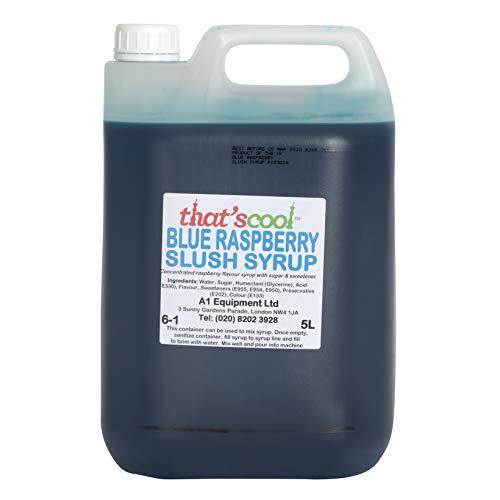 5 l Blauer Himbeer-Sirup 6-1 Verhältnis
