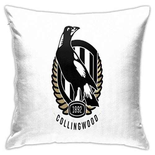 Collingwood Football Club Bedroom Couch Sofa Square Pillow Cases Home Decor Throw Pillow Covers 18x18 Inch