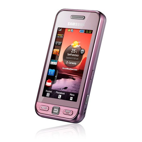 Samsung Star S5230 Smartphone (Touchscreen, 3MP Kamera, Video, MP3-Player, Bluetooth) soft-pink