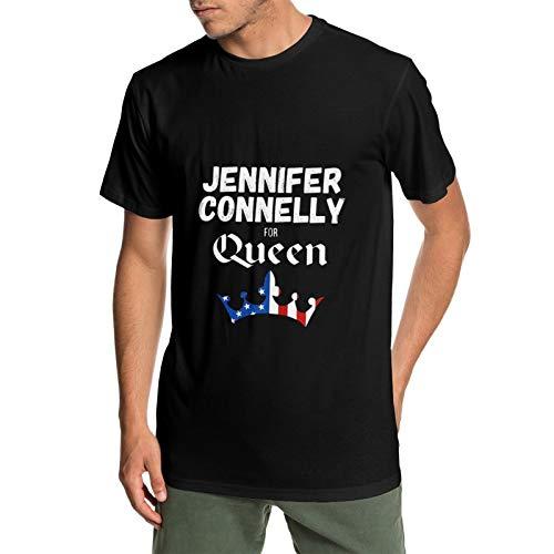 Tシャツ ジェニファー・コネリー Jennifer Connelly メンズ Uネックトップス 吸汗 通気 スポーツ アウトドア かっこいい