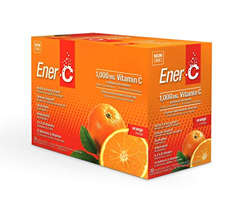 Ener-C - Natural Vitamin C 1000mg Immune Support, Drink Mix Powder Packets with Electrolytes for Hydration, Orange, 30 Packets