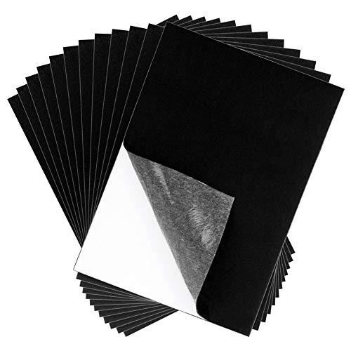 Adhesive Felt Sheet, Shynek 12 Pieces Black Felt Fabric Adhesive Sticky Back Felt Sheets for Art and Craft Making