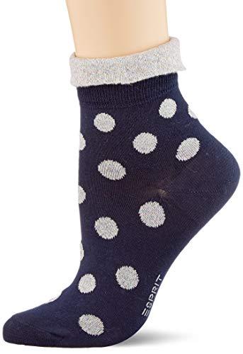 ESPRIT Damen Socken Shiny Dot - 80% Baumwolle, 1 Paar, Blau (Marine 6120), Größe: 39-42