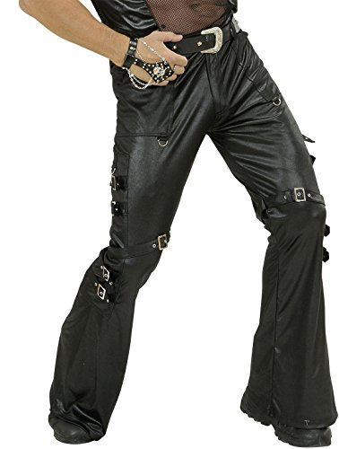 Widmann Black Leatherlook Pants Man Costume