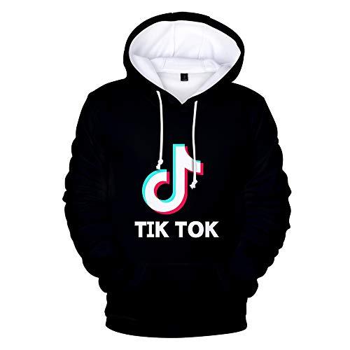 Tik Tok 3D Hoodies Trui Katoen T-shirt van de manier for de outdoor-activiteiten Man en Vrouw