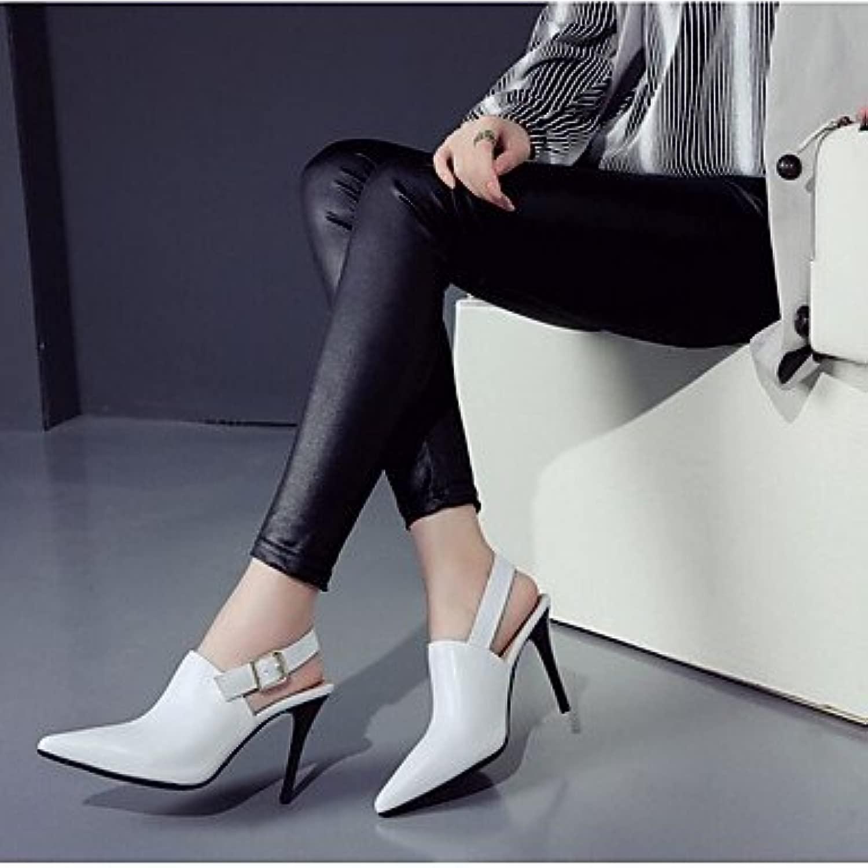 LvYuan-ggx Da donna Tac  Comoda PU (Poliuretano) Prima  Casual A stiletto Bianco Nero 10-12 cm, nero, us5   eu35   uk3   cn34