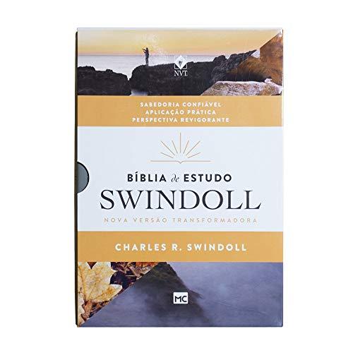 Bíblia de Estudo Swindoll: NVT - Capa Petra