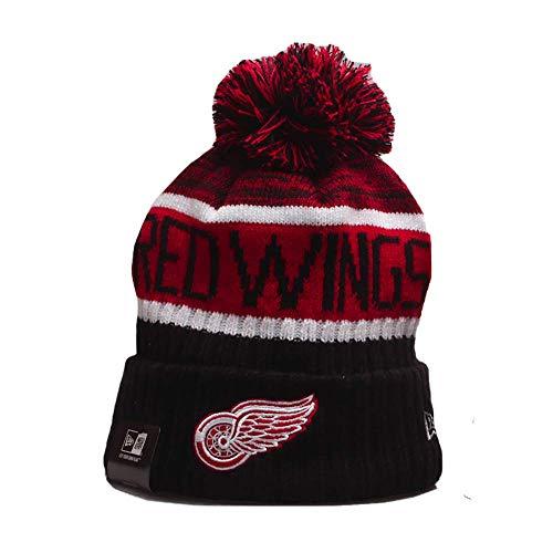 Yajun NHL Detroit Red Wings Strickmütze Winter Beanie Mode Atmungsaktive Elegante Mütze Hüte,A