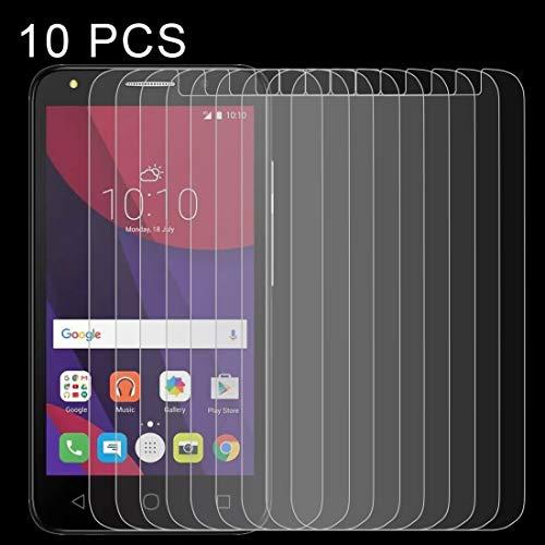 Zhangsihong película de Cristal Templado 10 PCS 0.26 mm 9H 2.5D de Vidrio Templado for Alcatel Pixi 4, 5.0 Pulgadas Protector de Pantalla