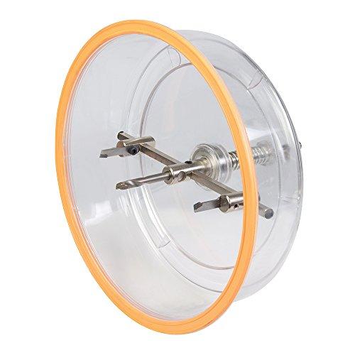 Silverline 633706 Kreis-Lochschneider mit Schutzhaube Ø 40–200 mm