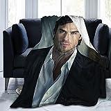 FUNNYFUN Ian Somerhalder Blanket Lamb Blanket 3D Print Plush Blanket Bedding Decor Blanket for Living Room Bedroom Dorm Decor (3Sizes)