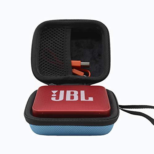 ESCOCO Duro Estuche Viajes Funda Bolso para JBL Altavoz portátil Bluetooth Impermeable Modelo GO/GO 2 (Azul)