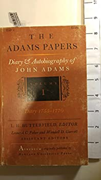 Paperback The Adams Papers - Diary & Autobiography of John Adams Volume I, Diary 1755-1770 Book