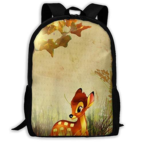 NA Mochila Otoño Bambi Otoño Flores Cremallera Escuela Bookbag Daypack Mochila de Viaje Bolsa de Gimnasio para Hombre Mujeres