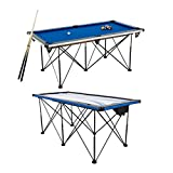 TRIUMPH Sports 6' Portable Pop Up Folding Air Hockey Table with Folding Legs, Instant Assembly and Accessories Included