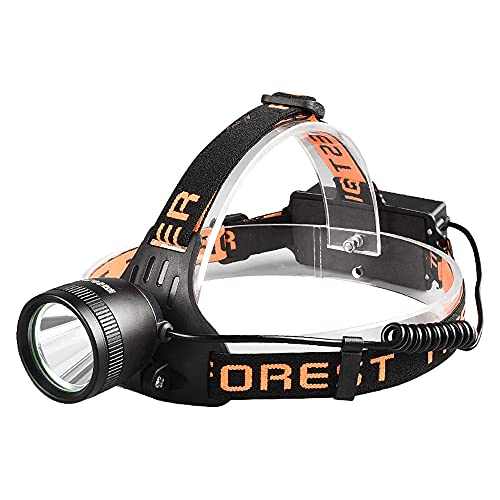 QQWJSH Linterna Frontal Recargable iluminación Exterior luz Fuerte lámpara de Pesca LED de Tiro Largo lámpara de minero Impermeable de Trabajo montada en la Cabeza