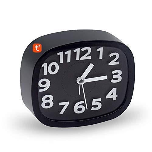 Tuya Reloj despertador con cámara inteligente, seguridad para el hogar Cámara IP inalámbrica WIFI 1080P IR Videocámaras de visión nocturna Vigilancia oculta Monitor de bebé,Clock